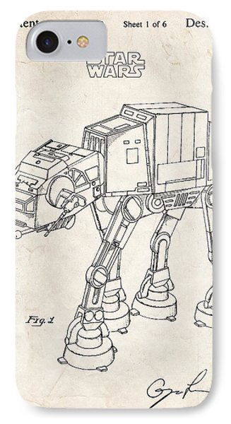 Star Wars At-at Imperial Walker Patent Art IPhone Case