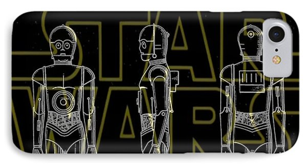 Star Wars C-3po Patent IPhone Case by Dan Sproul