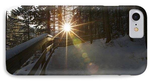 Starburst Sun Shine - Franconia Notch State Park New Hampshire  Phone Case by Erin Paul Donovan