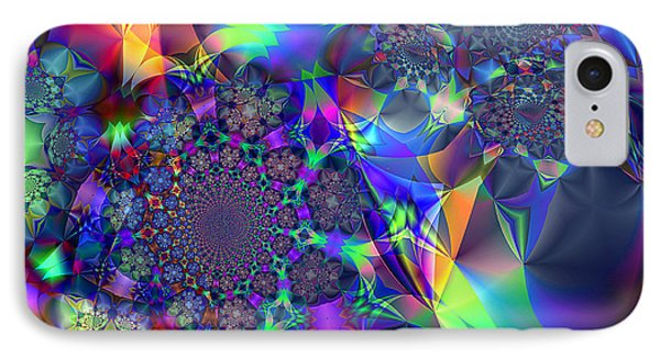 IPhone Case featuring the digital art Starcluster 1 by Ursula Freer