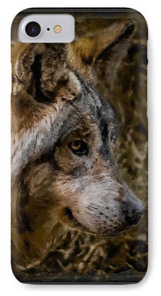 Stare Of The Wolf Phone Case by Ernie Echols