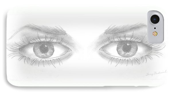IPhone Case featuring the drawing Stare by Terry Frederick