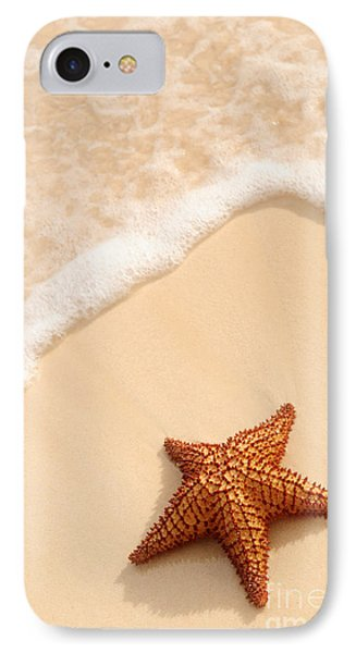 Starfish And Ocean Wave IPhone Case by Elena Elisseeva