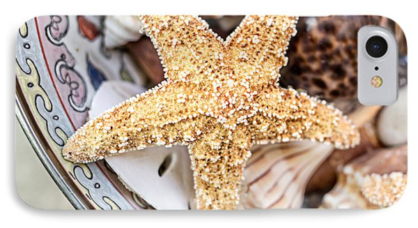Starfish And Seashells IPhone Case by Edward Fielding
