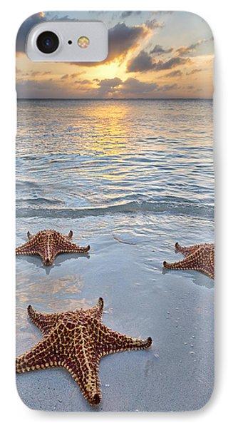 IPhone Case featuring the photograph Starfish Beach Sunset by Adam Romanowicz