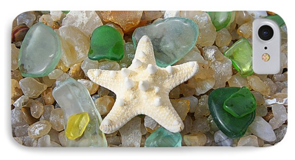 Starfish Fine Art Photography Seaglass Coastal Beach IPhone Case by Baslee Troutman