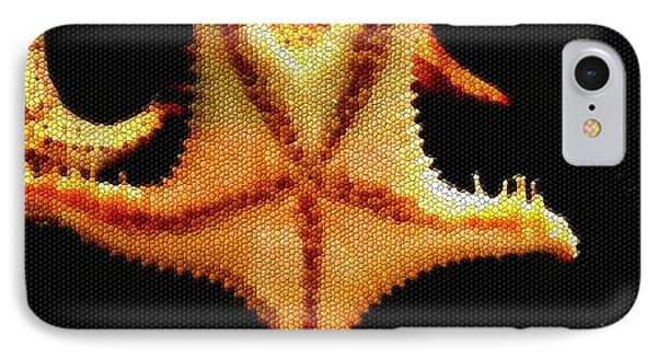 IPhone Case featuring the photograph Starfish In Mosaic by Janette Boyd