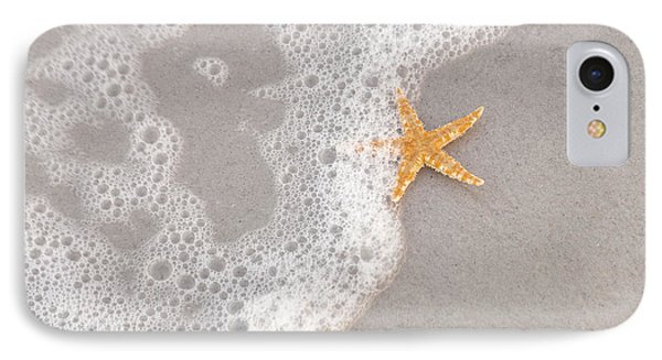 Starfish In The Surf Phone Case by Diane Macdonald