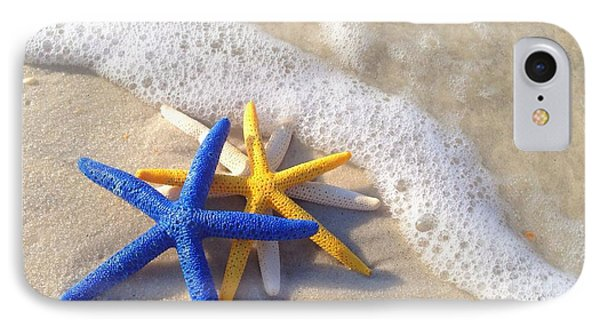 IPhone Case featuring the photograph Starfish In The Surf by Elizabeth Budd