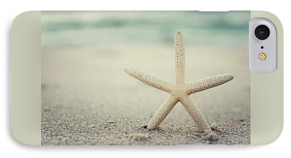 Starfish On Beach Vintage Seaside New Jersey  IPhone Case by Terry DeLuco