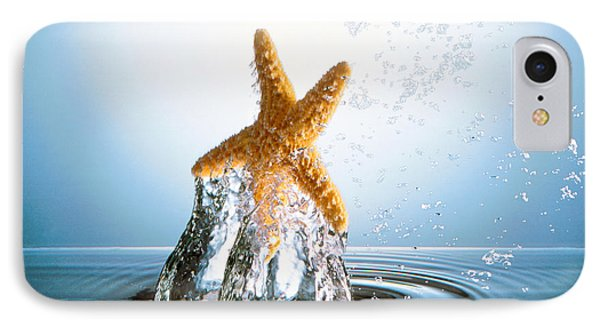 Starfish Rising On Water Bubble IPhone Case by Panoramic Images