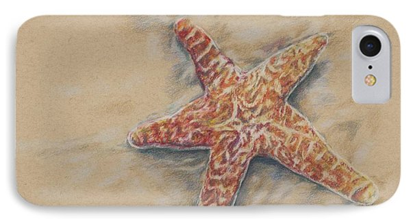 IPhone Case featuring the drawing Starfish Study by Meagan  Visser