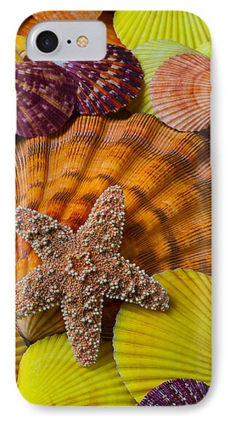 Starfish With Seashells Phone Case by Garry Gay