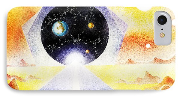 IPhone Case featuring the painting Stargate by Hartmut Jager