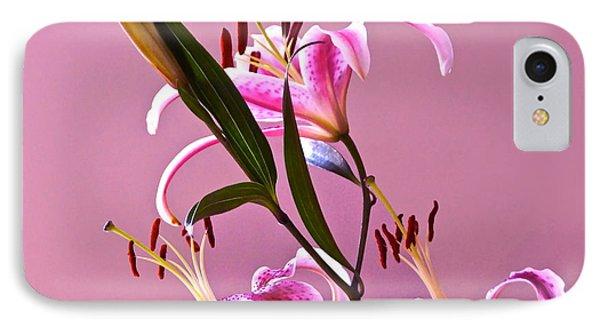 Stargazer Lilies Square Frame Phone Case by Byron Varvarigos
