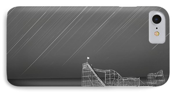 Starjet Roller Coaster Startrails Bw Phone Case by Michael Ver Sprill
