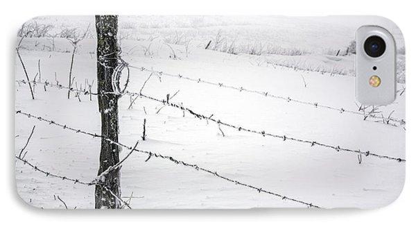 Stark Realities Of Winter Phone Case by John Haldane