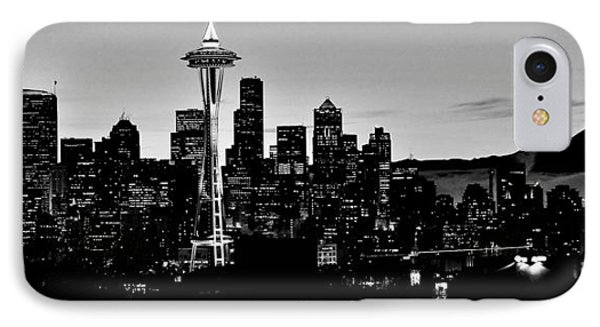 Stark Seattle Skyline IPhone Case by Benjamin Yeager
