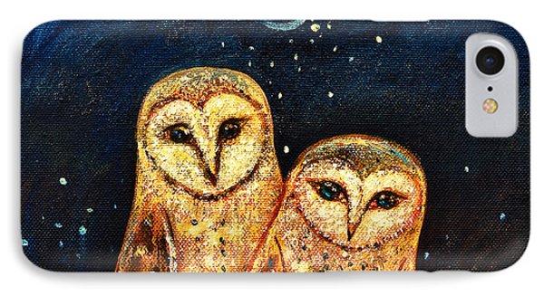 Starlight Owls IPhone Case by Shijun Munns