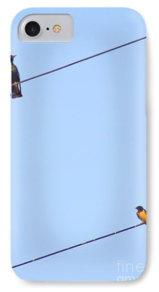 Starling And Swallow Phone Case by Tim Holt