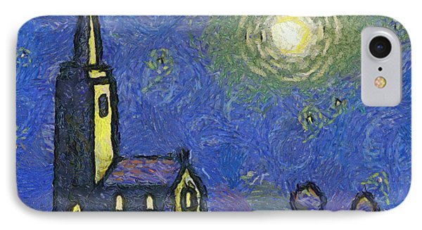 Starry Church Phone Case by Pixel Chimp