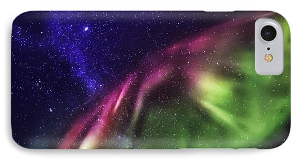 Starry Evening With The Aurora Borealis IPhone Case by Panoramic Images