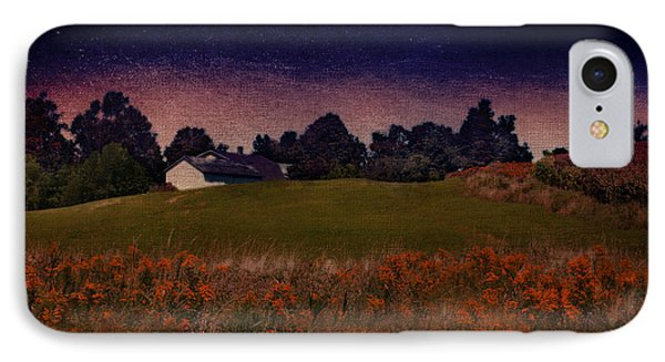 Starry Indigo Blue Twilight In The Country  IPhone Case by Brooke T Ryan