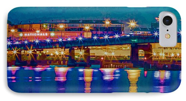 Starry Night At Nationals Park IPhone Case by Jerry Gammon