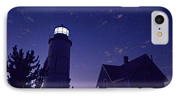 Starry Night At Sandy Neck Lighthouse Phone Case by Charles Harden
