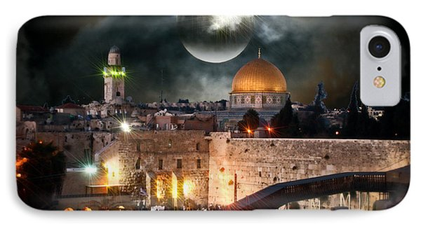 Starry Night At The Dome Of The Rock IPhone Case by Doc Braham