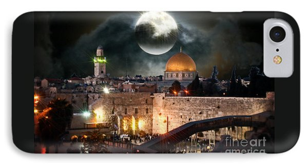 Full Moon At The Dome Of The Rock IPhone Case