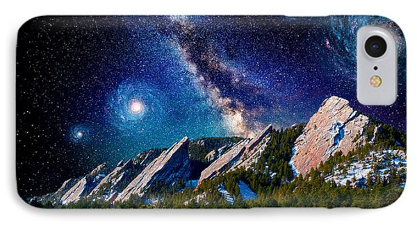 Starry Night At The Flatirons IPhone Case