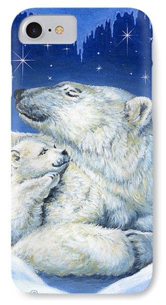 Starry Night Bears Phone Case by Richard De Wolfe