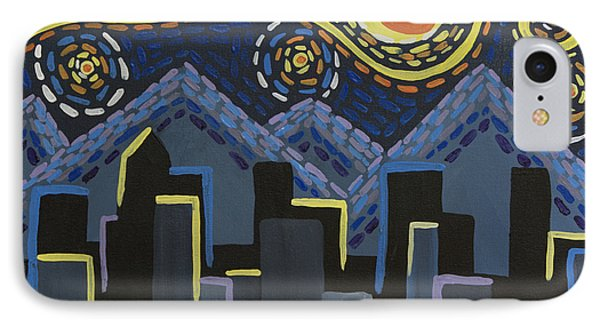 Starry Night Cityscape IPhone Case by Angelina Vick