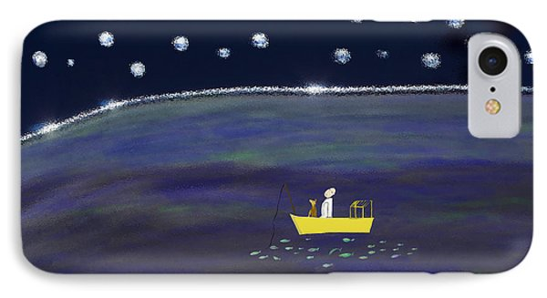 IPhone Case featuring the digital art Starry Night Fishing by Haleh Mahbod