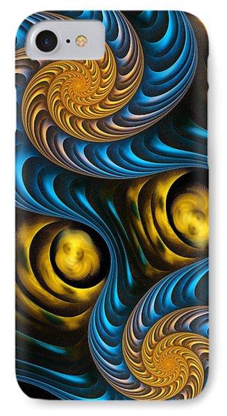 Starry Night - Fractal Art Phone Case by Anastasiya Malakhova