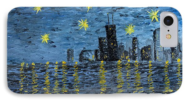Starry Night In Chicago IPhone Case