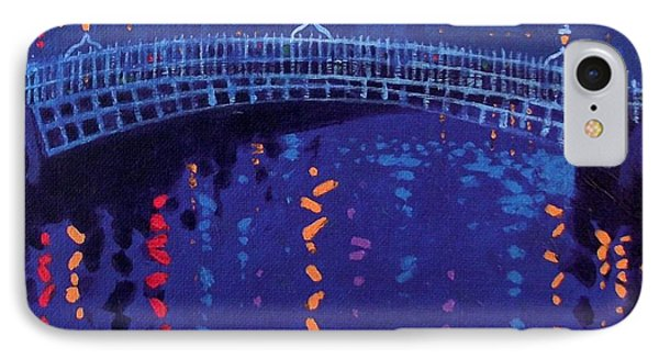 Starry Night In Dublin IPhone Case by John  Nolan