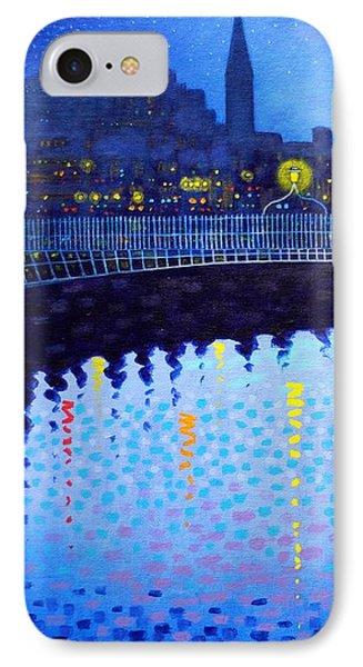 Starry Night In Dublin Vi IPhone Case by John  Nolan