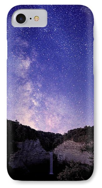 Starry Night Of Taughannock Waterfalls IPhone Case by Paul Ge