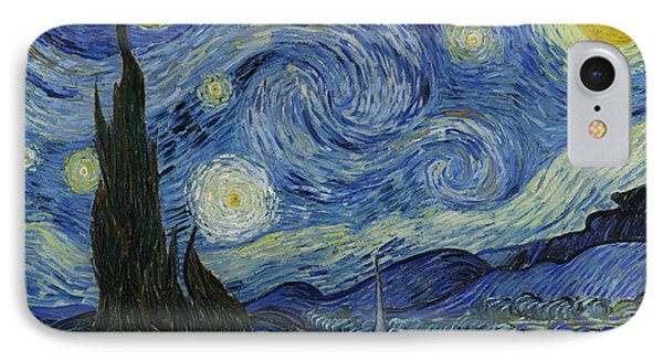 Starry Night IPhone Case by Masterpieces Of Art Gallery