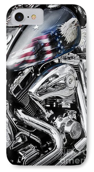 Stars And Stripes Harley  IPhone 7 Case