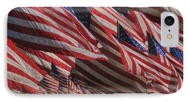 Stars And Stripes - Remembering Phone Case by Jack Zulli