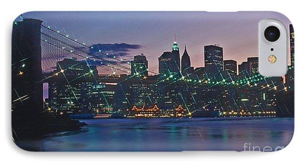 Stars Brooklyn Bridge Phone Case by Bruce Bain