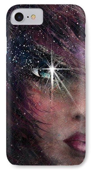 Stars In Her Eyes IPhone Case by Rachel Christine Nowicki