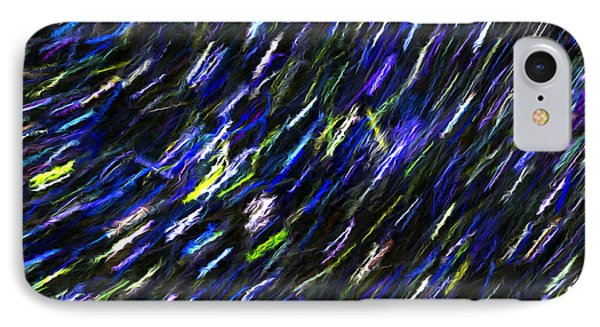 Stars In The Night Sky Abstract 2 IPhone Case by Sharon Talson