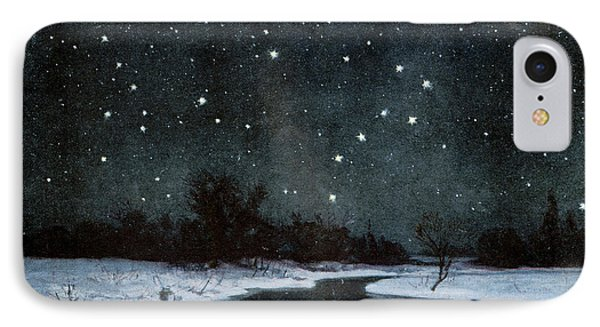 Stars Over Snow Field IPhone Case by Cci Archives