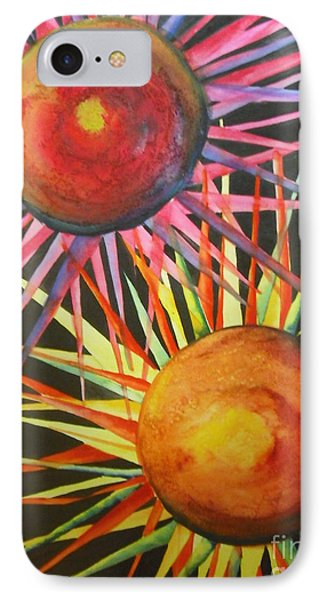 IPhone Case featuring the painting Stars With Colors by Chrisann Ellis