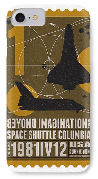 Starschips 01-poststamp - Spaceshuttle Phone Case by Chungkong Art