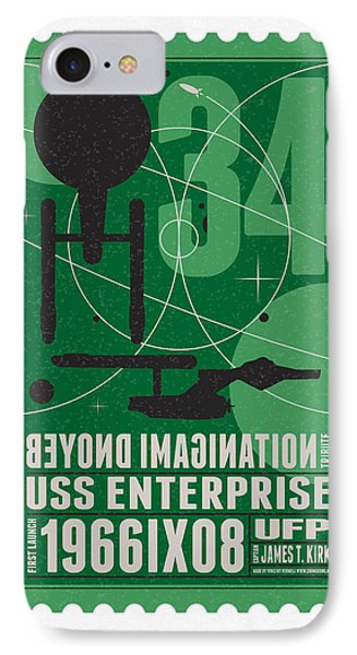 Starschips 34-poststamp - Uss Enterprise IPhone Case